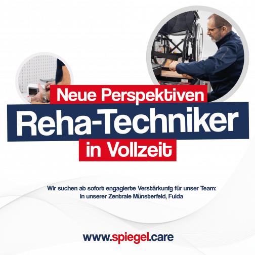 Anzeige Reha-Techniker